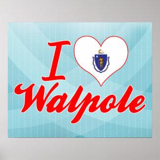 I Love Walpole, Massachusetts Poster
