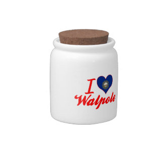 I Love Walpole, New Hampshire Candy Dishes