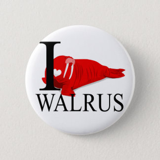 I Love Walrus Buttons