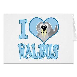 I Love walrus Card
