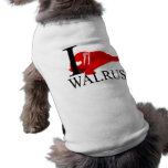 I Love Walrus Doggie's Pet Tee Shirt