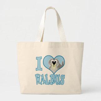 I Love walrus Jumbo Tote Bag