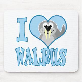 I Love walrus Mouse Pad