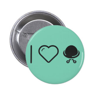 I Love Walrus Moustaches 2 Inch Round Button
