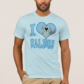 I Love walrus T-Shirt