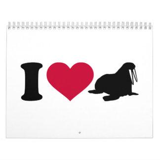 I love Walruses Calendar