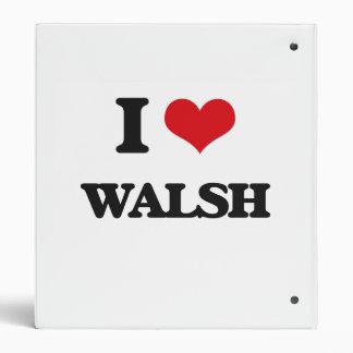 I Love Walsh Vinyl Binders