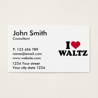 I love Waltz Business Card