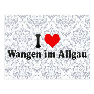 I Love Wangen im Allgau, Germany Postcard