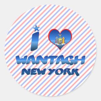 I love Wantagh, New York Classic Round Sticker