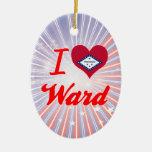I Love Ward, Arkansas Christmas Tree Ornament