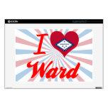 I Love Ward, Arkansas Decal For Laptop