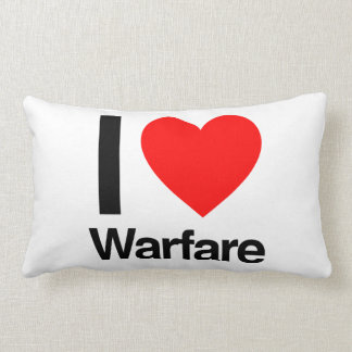i love warfare throw pillows