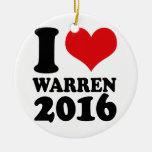 I LOVE WARREN 2016 -.png Ornaments