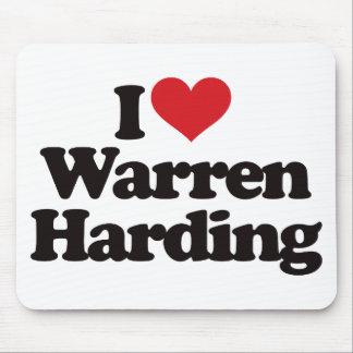I Love Warren Harding Mouse Pad