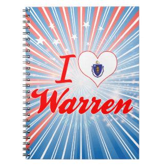I Love Warren, Massachusetts Notebook