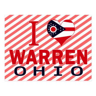 I love Warren, Ohio Postcard