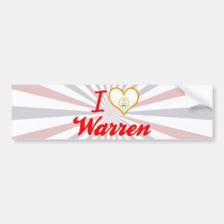 I Love Warren, Rhode Island Bumper Sticker