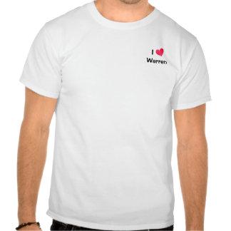 I Love Warren T Shirts