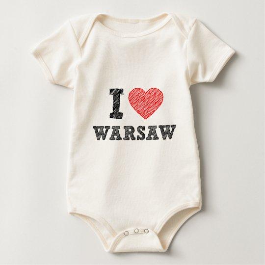 I Love Warsaw Baby Bodysuit