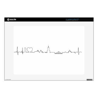 """I love Warsaw (ecg style) souvenir Decals For 15"""" Laptops"""