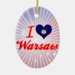 I Love Warsaw, Kentucky Christmas Tree Ornament