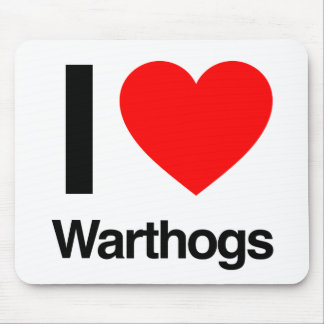 i love warthogs mouse pad