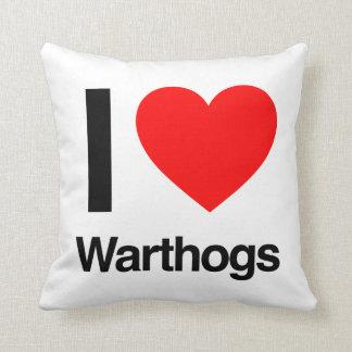i love warthogs pillow