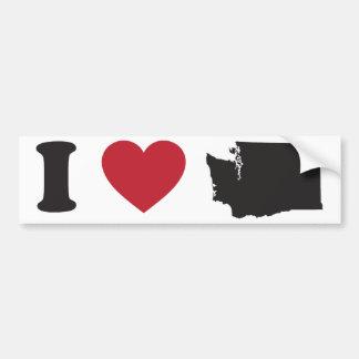 I Love Washington Car Bumper Sticker