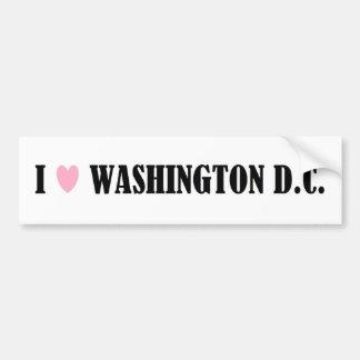 I LOVE WASHINGTON D.C. BUMPER STICKER