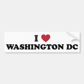 I Love Washington DC Bumper Sticker