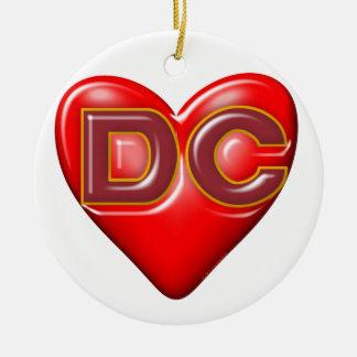 I Love Washington DC Ceramic Ornament