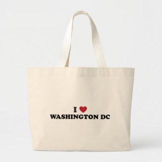 I Love Washington DC Large Tote Bag