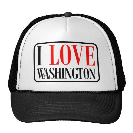 I Love Washington Design Trucker Hat