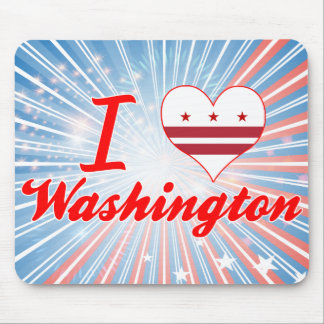 I Love Washington, District of Columbia Mousepads