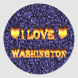 I love washington fire and flames stickers