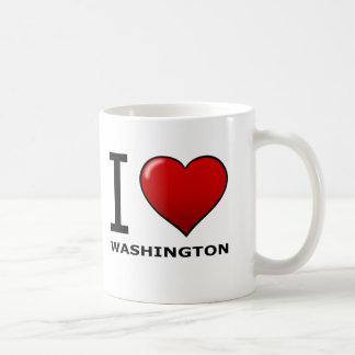 I LOVE WASHINGTON CLASSIC WHITE COFFEE MUG