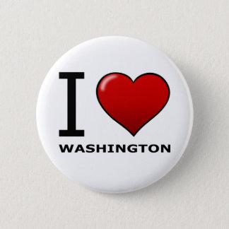 I LOVE WASHINGTON PINBACK BUTTON