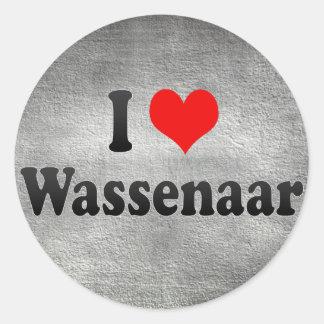 I Love Wassenaar, Netherlands Classic Round Sticker