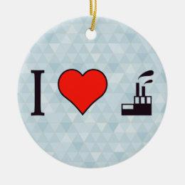 I Love Waste Disposal Sector Ceramic Ornament