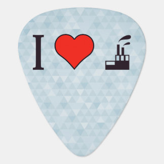 I Love Waste Disposal Sector Guitar Pick