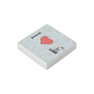 I Love Waste Disposal Sector Stone Magnet