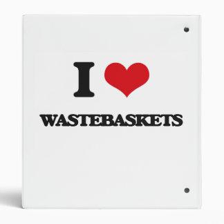 I love Wastebaskets 3 Ring Binders