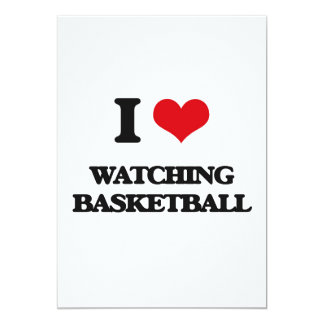 I love Watching Basketball 5x7 Paper Invitation Card