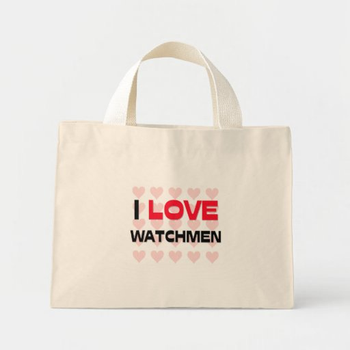 I LOVE WATCHMEN CANVAS BAGS