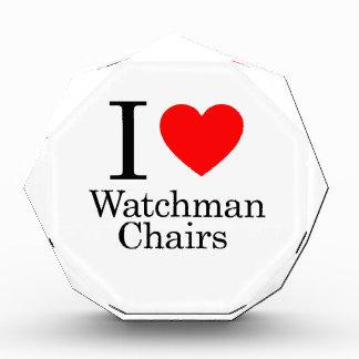 I Love Watchmen Chairs Acrylic Award
