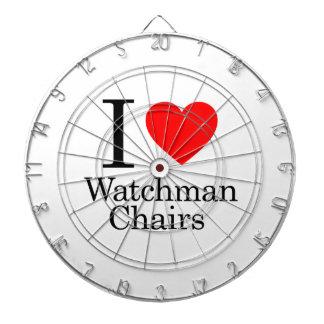 I Love Watchmen Chairs Dart Board