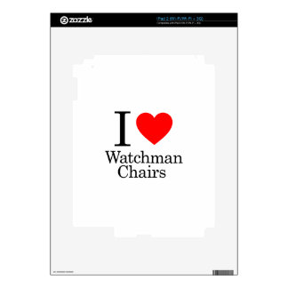 I Love Watchmen Chairs Decals For iPad 2
