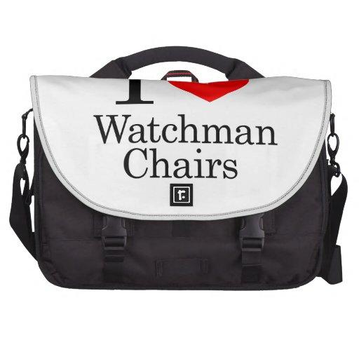 I Love Watchmen Chairs Laptop Bag