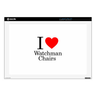 I Love Watchmen Chairs Laptop Skins